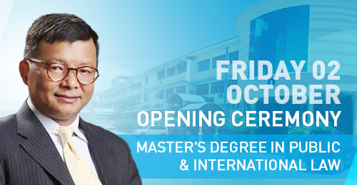 Opening Ceremony Master's Degree in Public & International Law