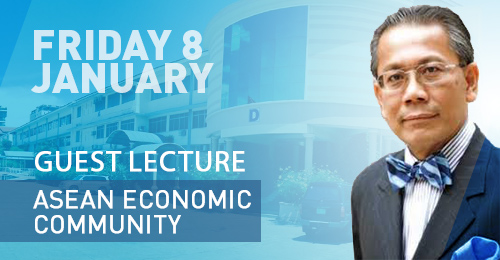 On Friday, January 8th, Guest Lecture: H.E. Dr. SOK Siphana ; ASEAN Economic Community